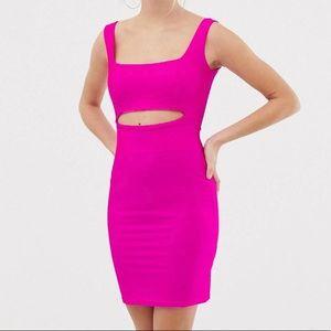 Neon Peek cutout mini dress